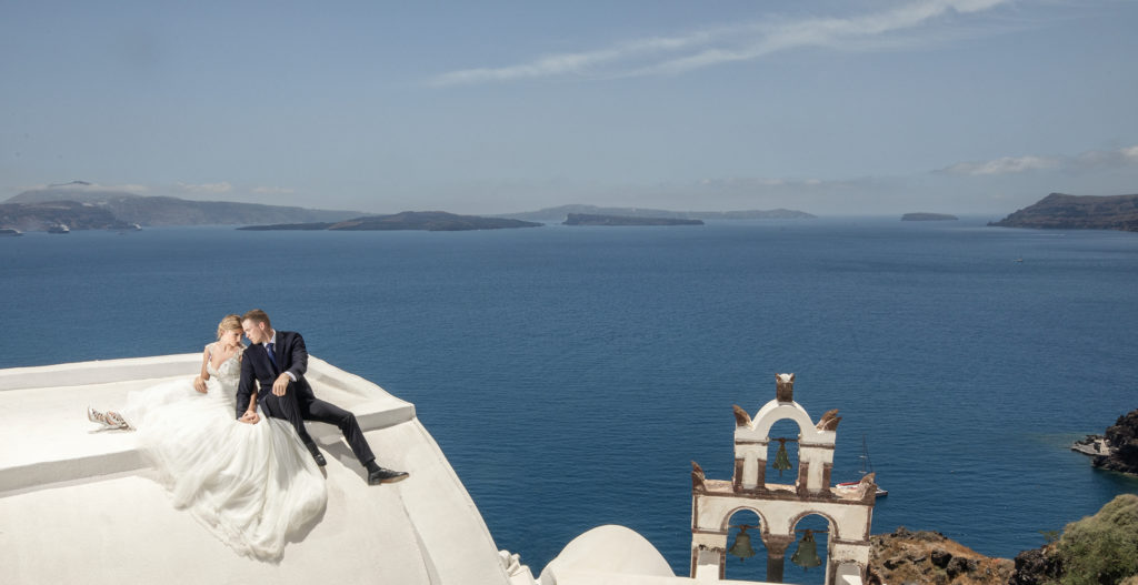 Wedding Photos at Oia, Santorini Greece.